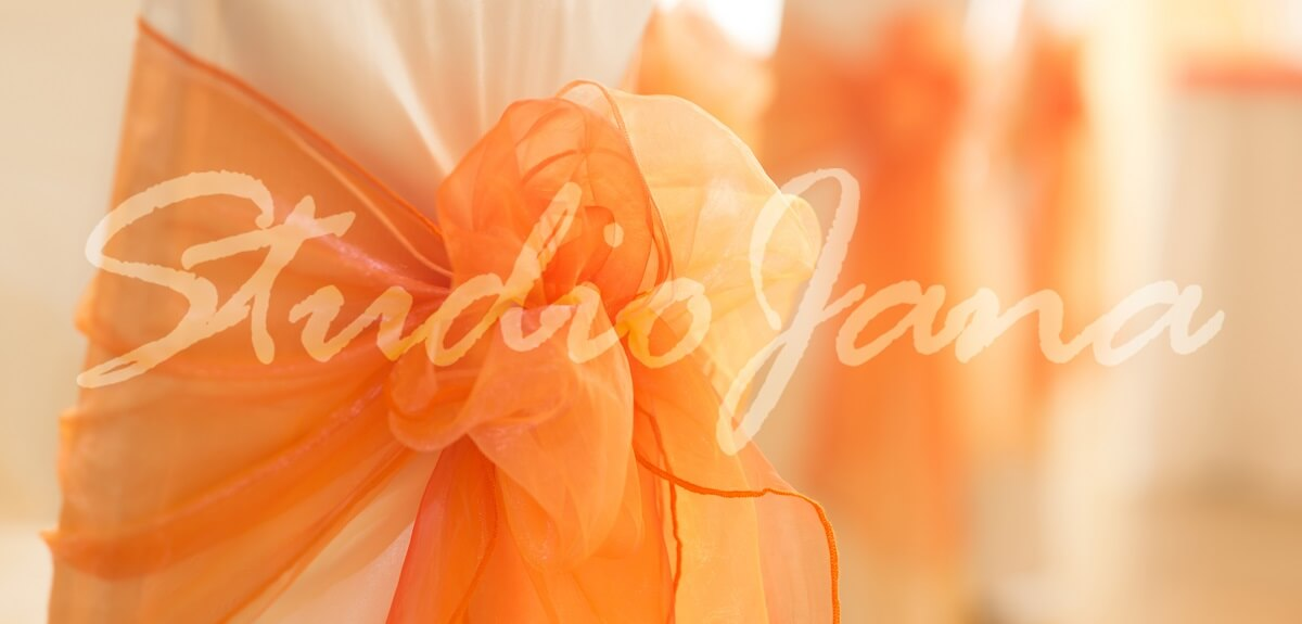 Dekoracije stolica - Peach Orange