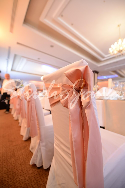 Dekoracije stolica - Pale Pink