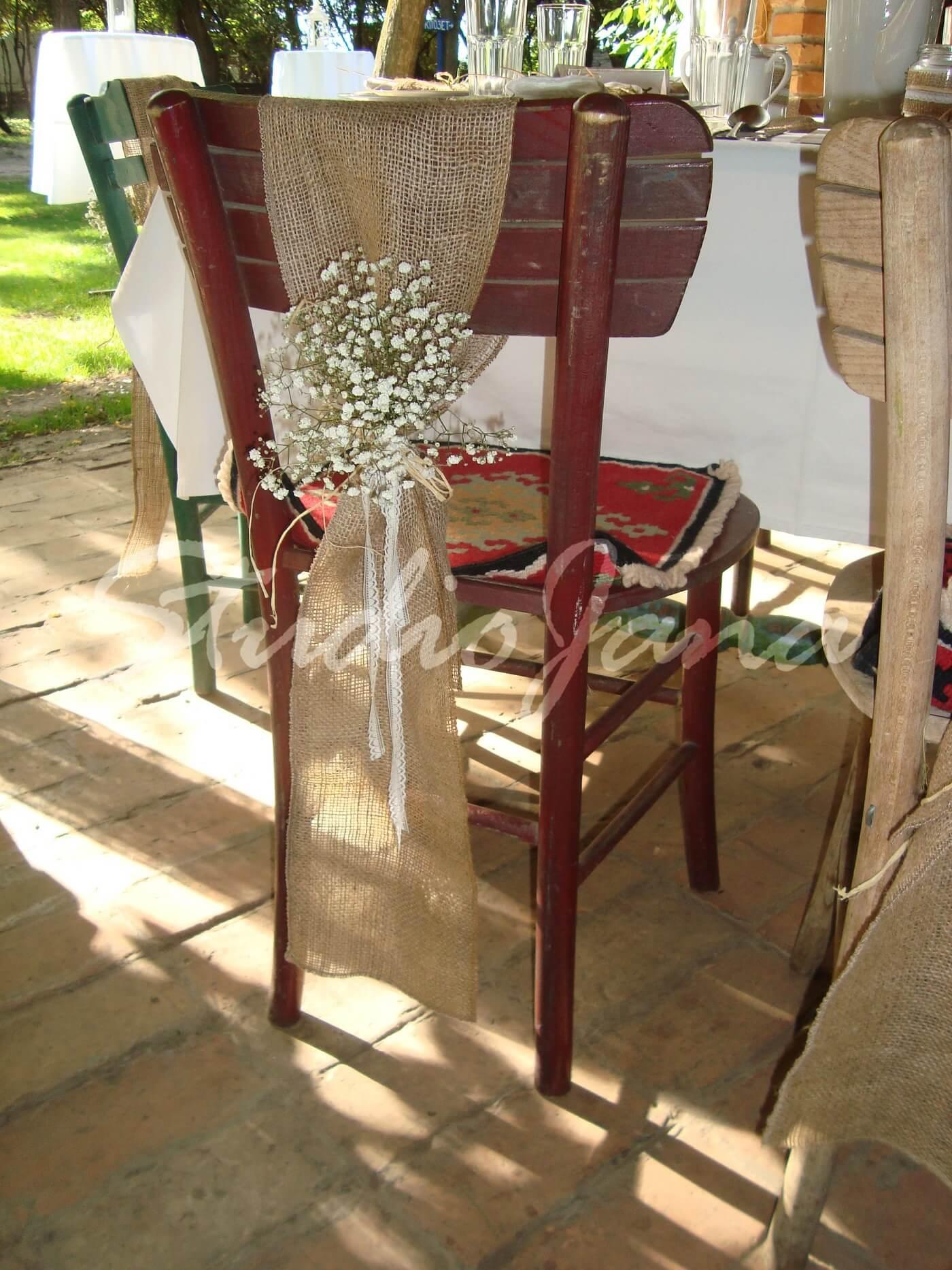 Dekoracije stolica - Sandy Brown