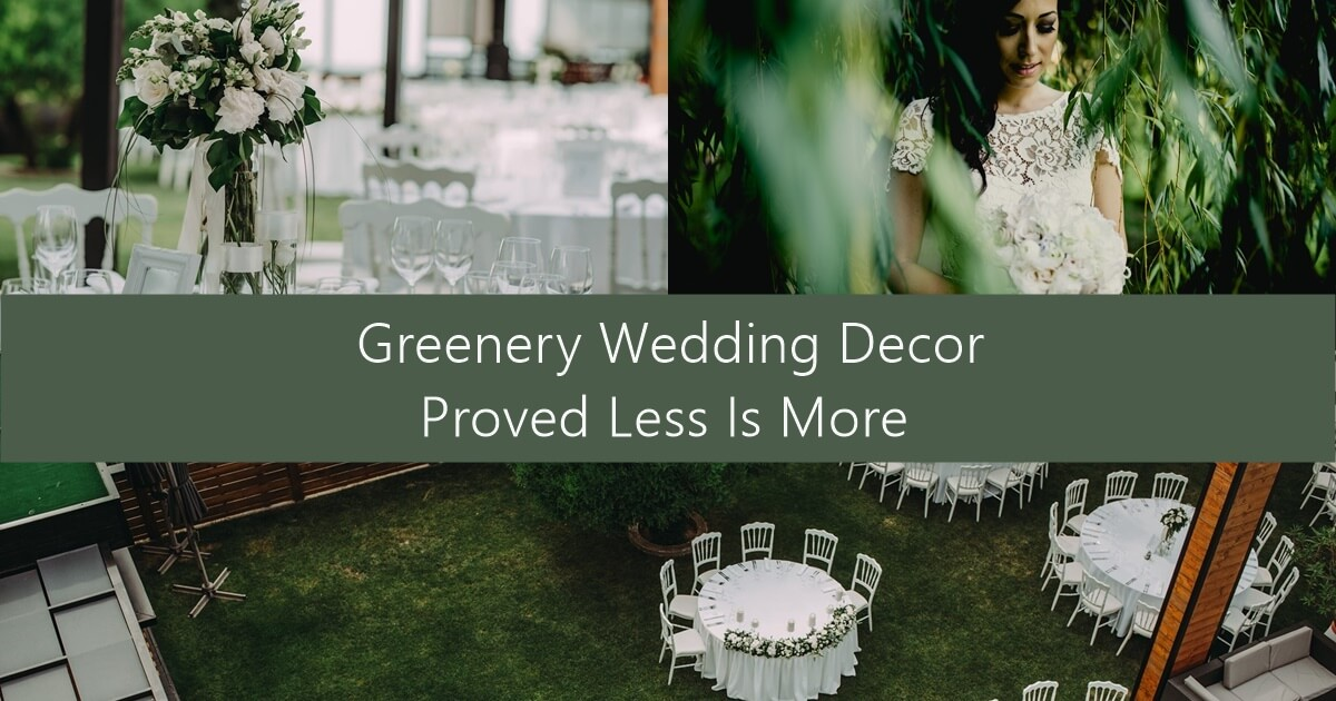 Dekoracija venčanja – koncept sa zelenilom